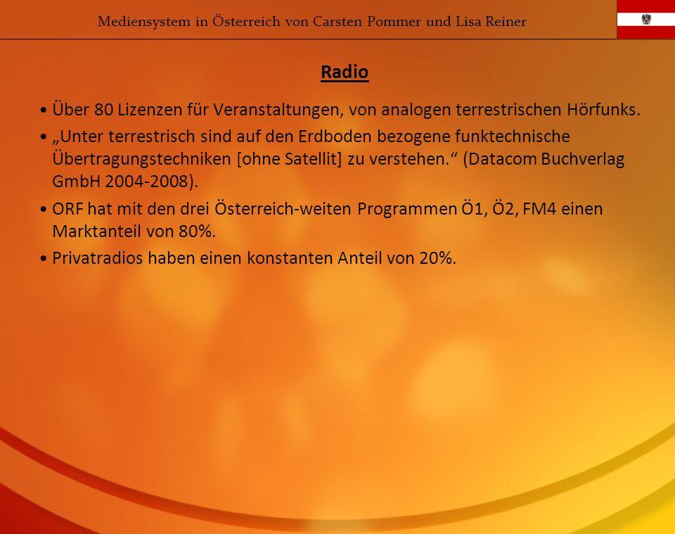 Über 80 Lizenzen für Veranstaltungen, von analogen terrestrischen Hörfunks. Unter terrestrisch sind auf den Erdboden bezogene funktechnische Übertragu