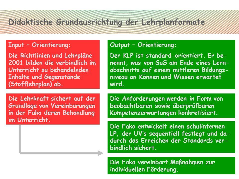 Fachdidaktische Grundausrichtung des KLP Sport...
