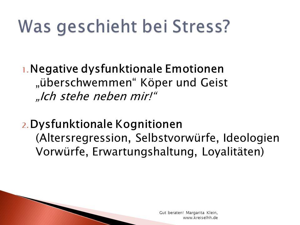 1. Negative dysfunktionale Emotionen überschwemmen Köper und Geist Ich stehe neben mir! 2. Dysfunktionale Kognitionen (Altersregression, Selbstvorwürf