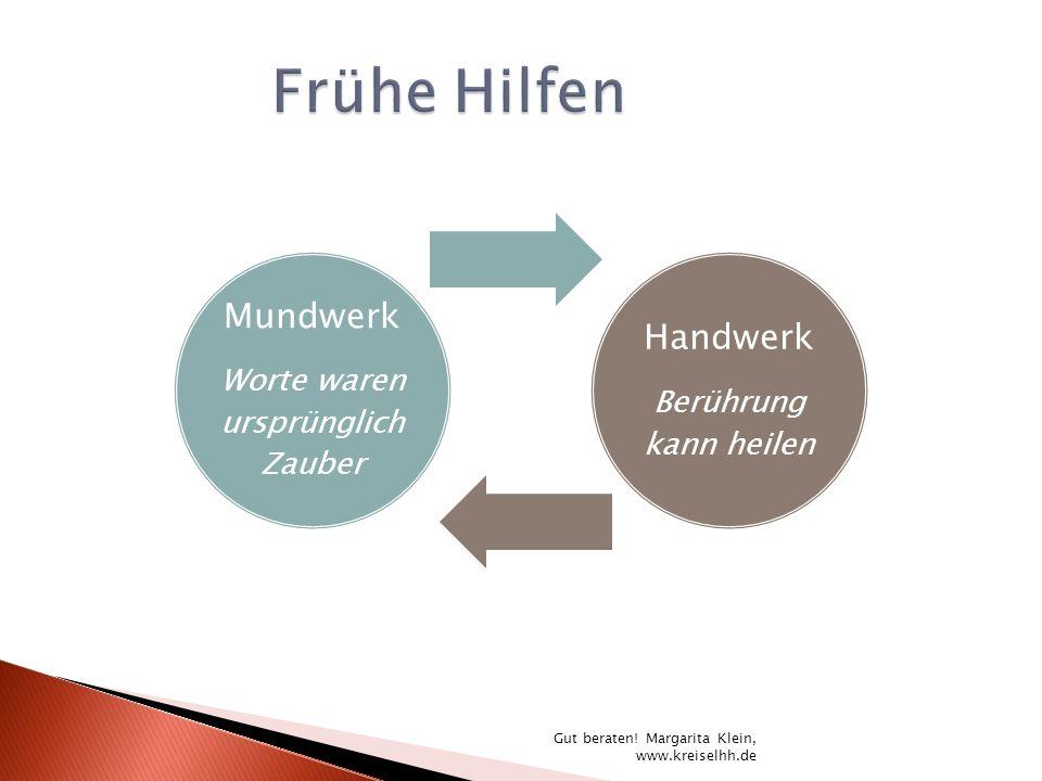 Mundwerk Worte waren ursprünglich Zauber Handwerk Berührung kann heilen Gut beraten! Margarita Klein, www.kreiselhh.de