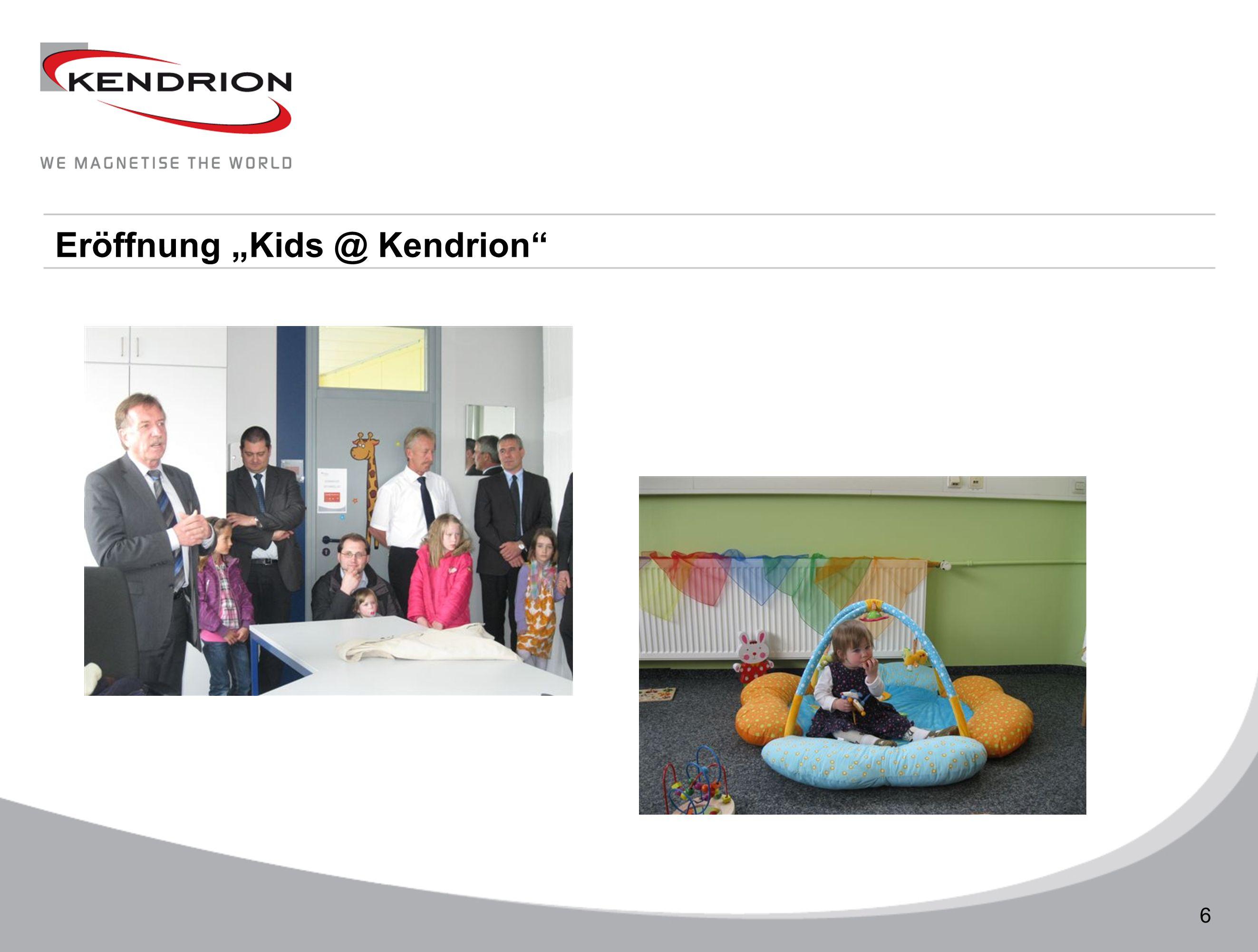 Technische Daten 6 Eröffnung Kids @ Kendrion