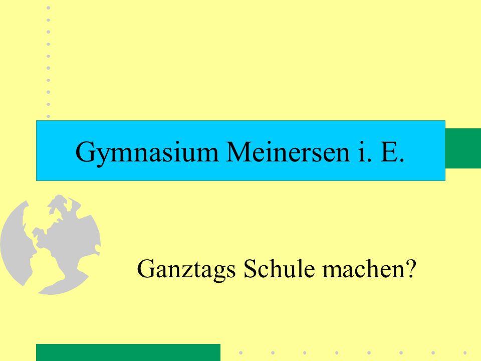 Gymnasium Meinersen i. E. Ganztags Schule machen?