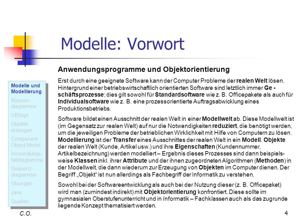 5 Modelle und Modellierung C.O.