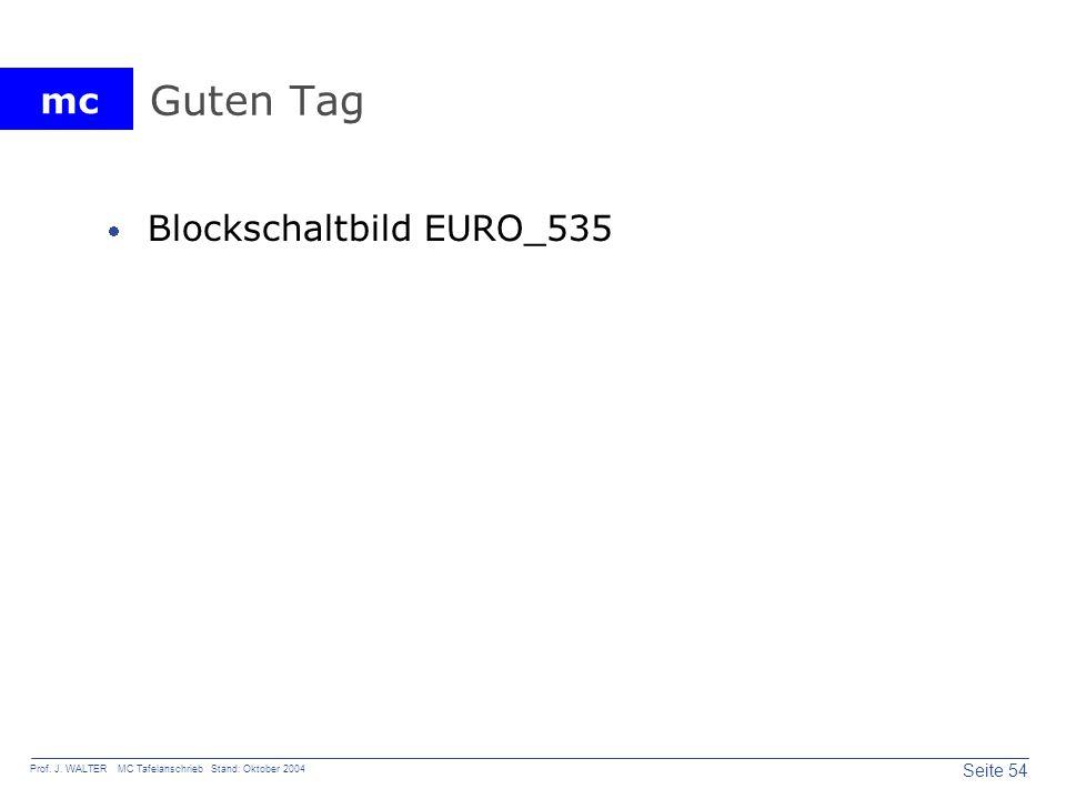 mc Seite 54 Prof. J. WALTER MC Tafelanschrieb Stand: Oktober 2004 Guten Tag Blockschaltbild EURO_535
