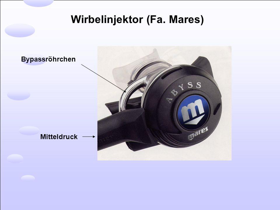 Wirbelinjektor (Fa. Mares) Bypassröhrchen Mitteldruck