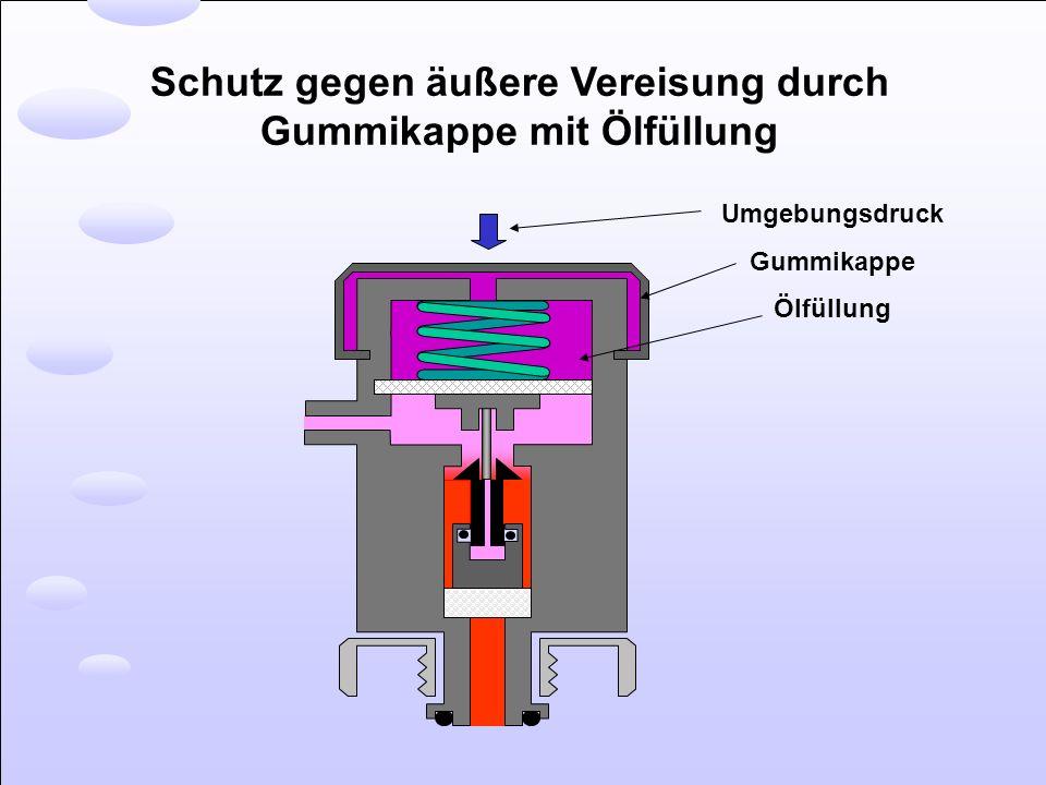 Schutz gegen äußere Vereisung durch Gummikappe mit Ölfüllung Umgebungsdruck Gummikappe Ölfüllung