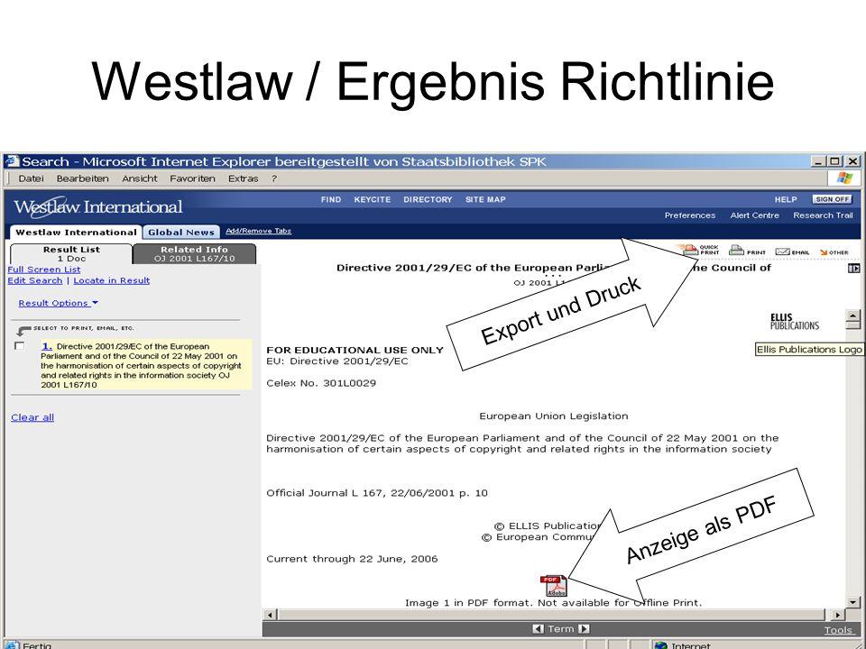Westlaw / verbale Suche