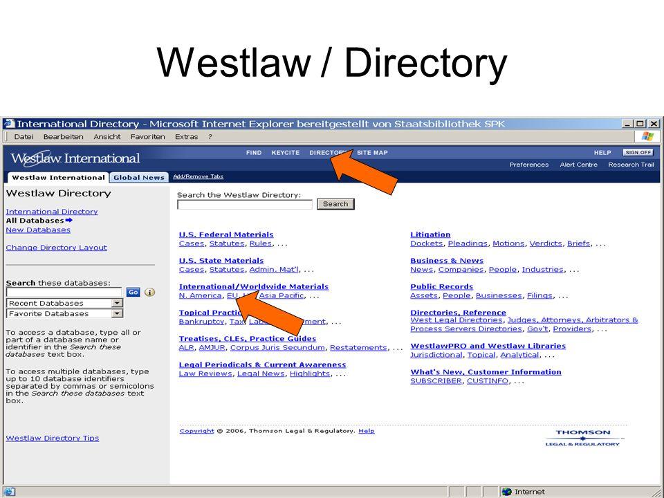 Westlaw / Fachdatenbank