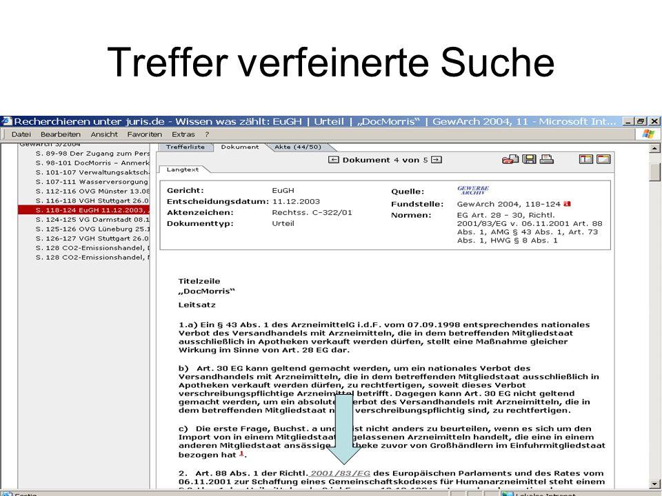 Die Virtuelle Fachbibliothek Recht Kostenfreies Internetangebot der Staatsbibliothek zu Berlin / Sondersammelgebiet Recht Erreichbarkeit: www.vifa-recht.dewww.vifa-recht.de Weist Internetquellen, Bücher, Zeitschriften, Aufsätze und Bibliographien auch zum Europarecht nach