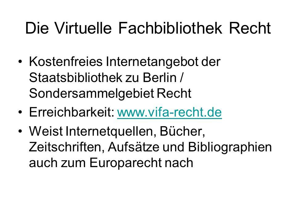 ViFa Recht / Einstiegsseite