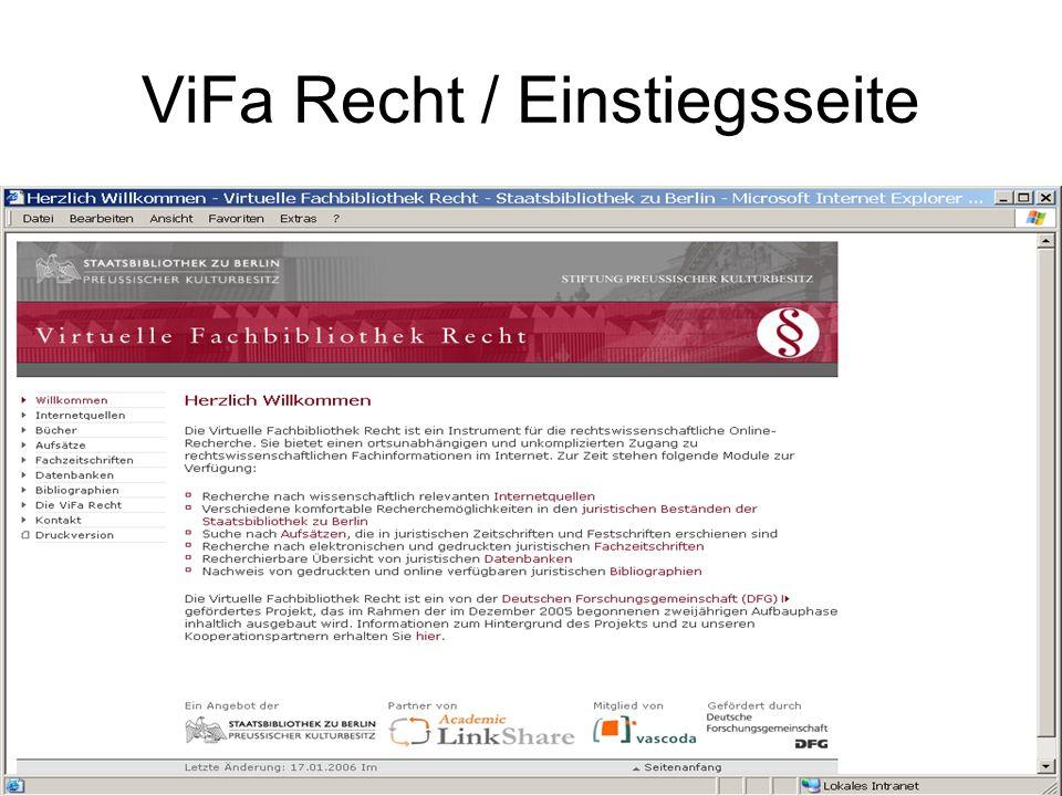 ViFa / Recht Internetquellen zur EU Fachliches Browsing