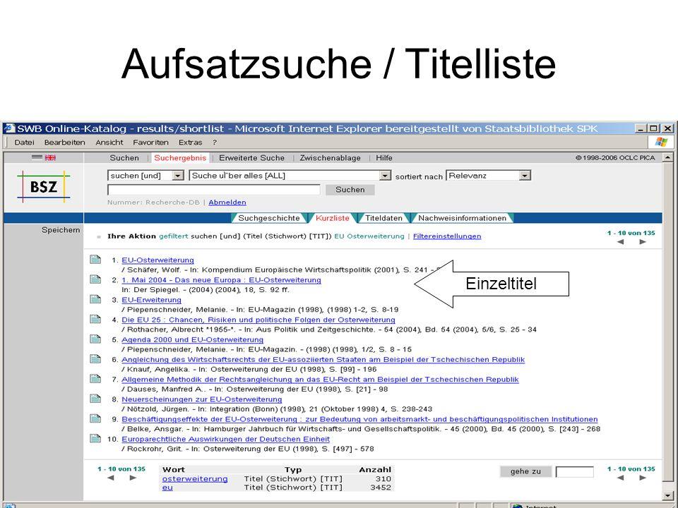 ViFa Recht / Aufsatzsuche / OLC