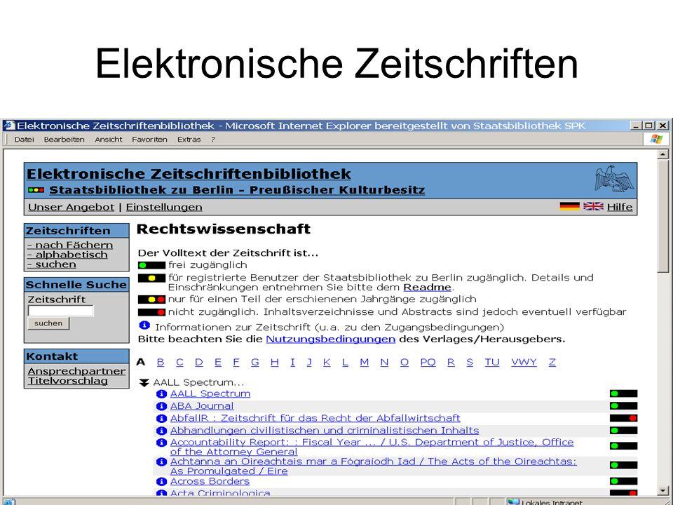 ViFa Recht / Datenbanken Fachliches Browsing
