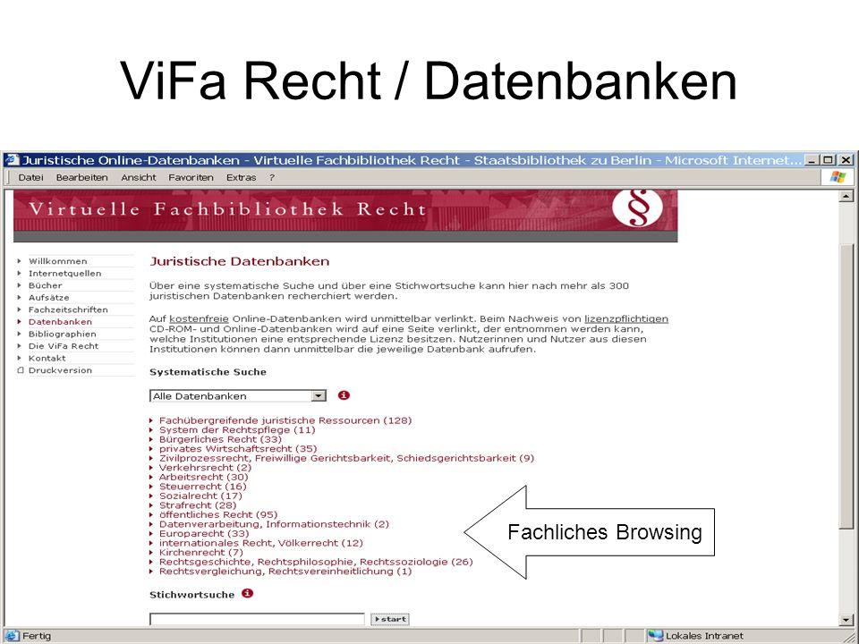 Europarechtliche Datenbanken Einzeldatenbank