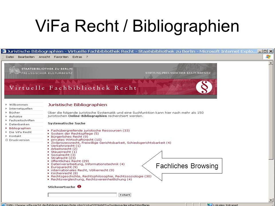 Europarechtliche Bibliographien Einzelbibliographie