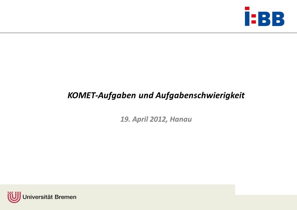 Berufe / Fachgebiete Jahr Elektroniker (Industrie) Elektroniker (Handwerk) Kfz-Mechatroniker Industriemechaniker in Planung: Pflege drei weitere Berufe (mit stärkerem Anteil weiblicher Auszubildender) Legende: D = Deutschland, C = China, N = Norwegen, SA = Südafrika, CH = Schweiz 2007200820092010201120122013 D C N SA D C, N, SA (D), (CH)… (D), … D C N SA D C, N, SA Überblick über das KOMET-Programm