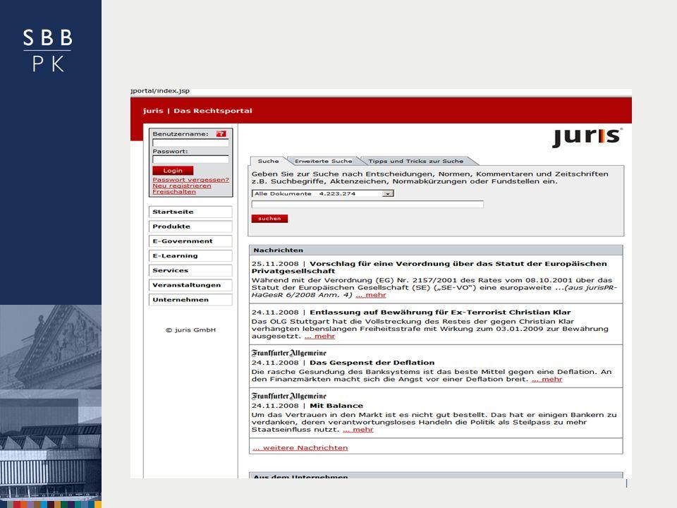 | www.Juris.dewww.Juris.de – freie Angebote