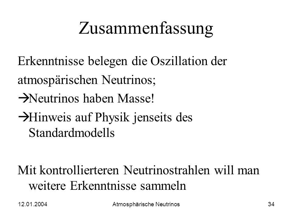 12.01.2004 Atmosphärische Neutrinos33 Lageplan MINOS