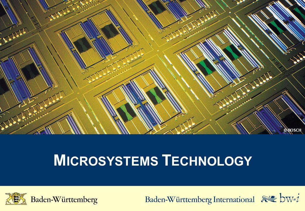 M ICROSYSTEMS T ECHNOLOGY © BOSCH