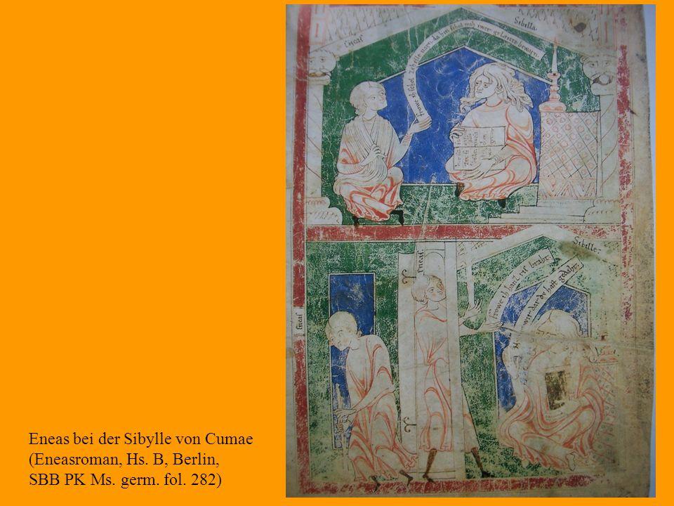 30 Eneas bei der Sibylle von Cumae (Eneasroman, Hs. B, Berlin, SBB PK Ms. germ. fol. 282)