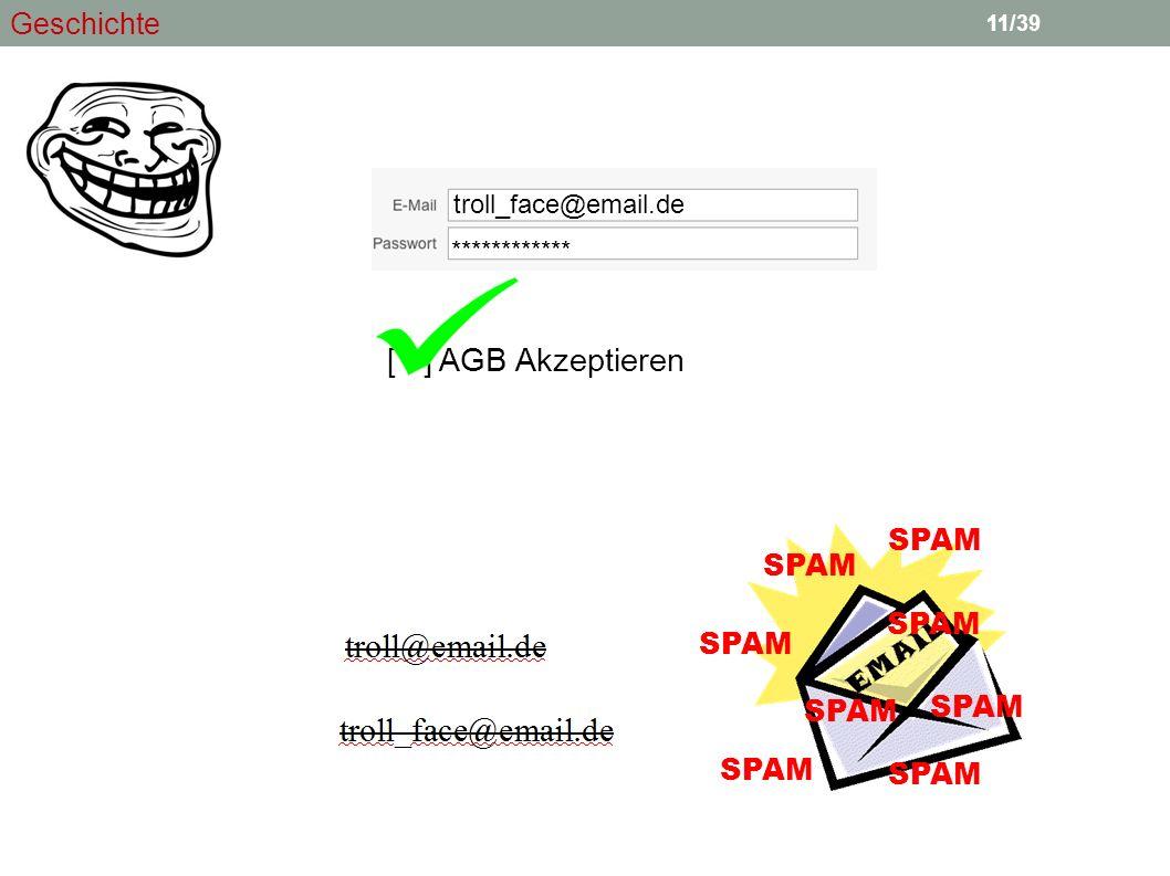 11 [ ] AGB Akzeptieren troll_face@email.de ************ SPAM 11/39 Geschichte