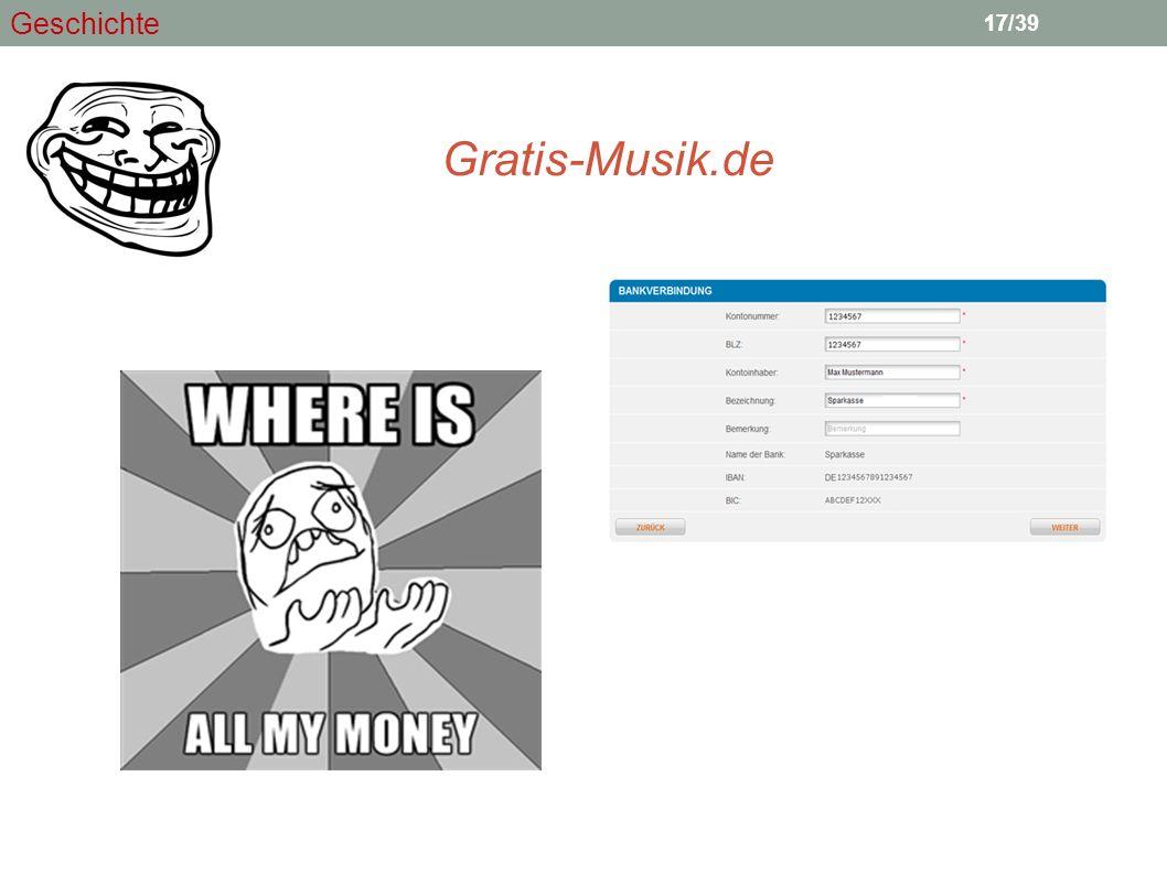 17 Gratis-Musik.de 17/39 Geschichte
