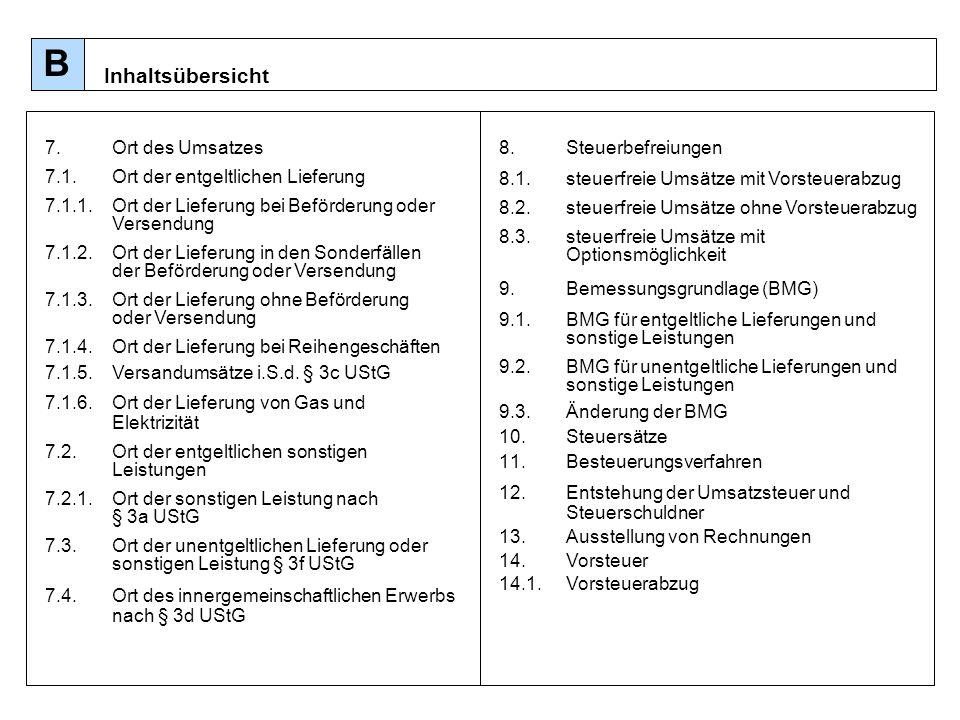 74 Ort der sonstigen Leistung [§ 3a UStG] im Allgemeinen (§3 (1) und (2) UStG) im Besonderen (Spezialvorschriften §3a (3) UStG) Belegenheitsort [§ 3a (3) Nr.