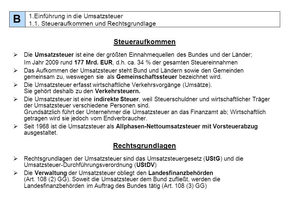 95 Entstehung der Umsatzsteuer für Leistungen Sollbesteuerung [§ 13 (1) Nr.