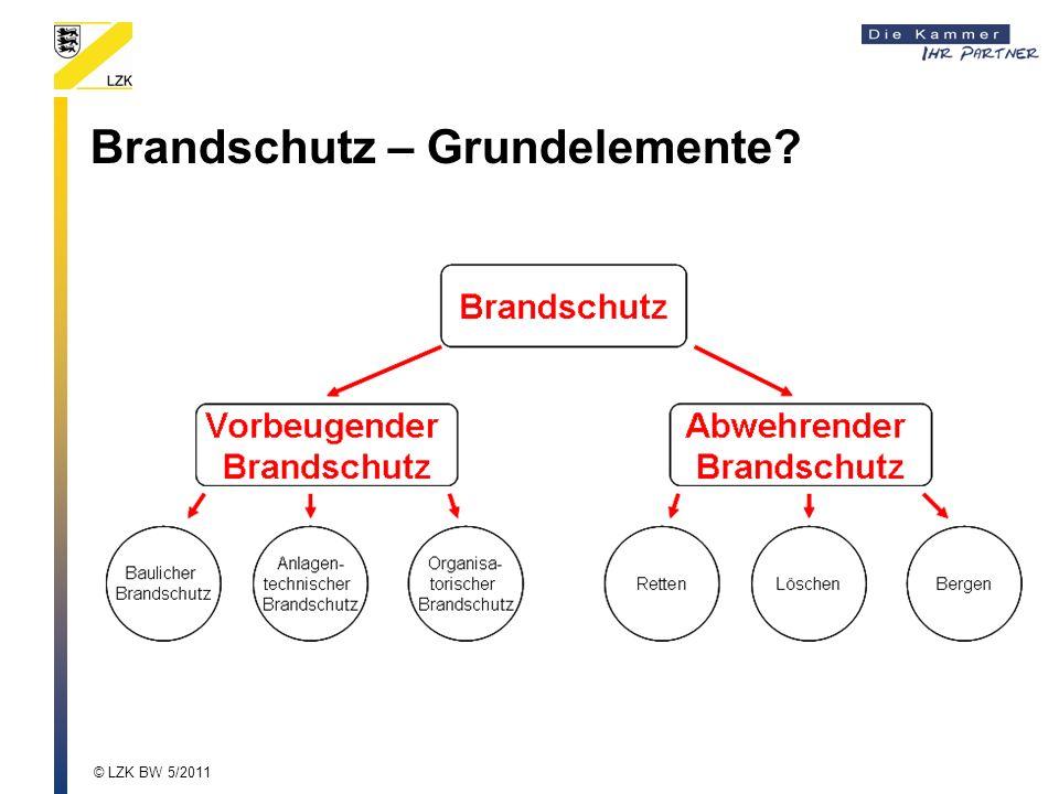 Brandschutz – Grundelemente? © LZK BW 5/2011