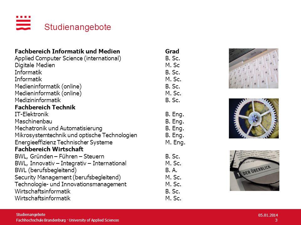 Fachhochschule Brandenburg · University of Applied Sciences Studienangebote Fachbereich Informatik und Medien Grad Applied Computer Science (internati