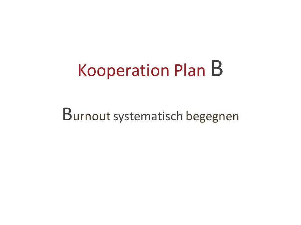 Kooperation Plan B B urnout systematisch begegnen