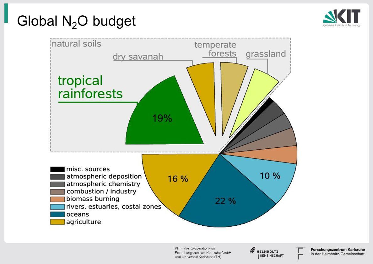 KIT – die Kooperation von Forschungszentrum Karlsruhe GmbH und Universität Karlsruhe (TH) Global N 2 O budget