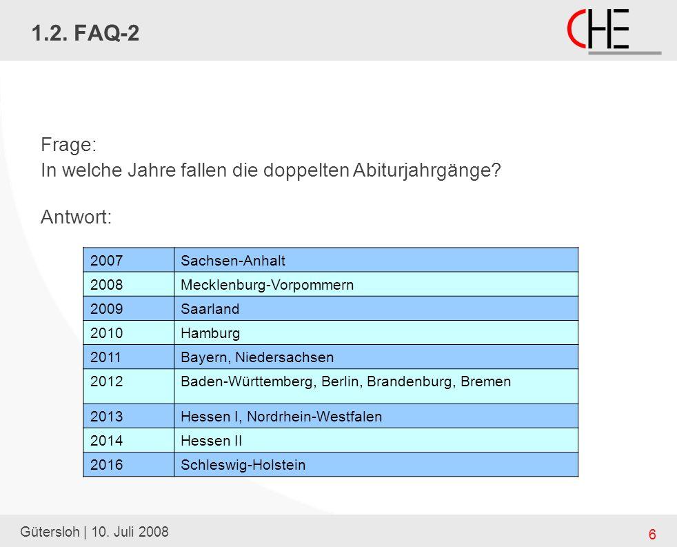 Gütersloh | 10. Juli 2008 6 1.2.