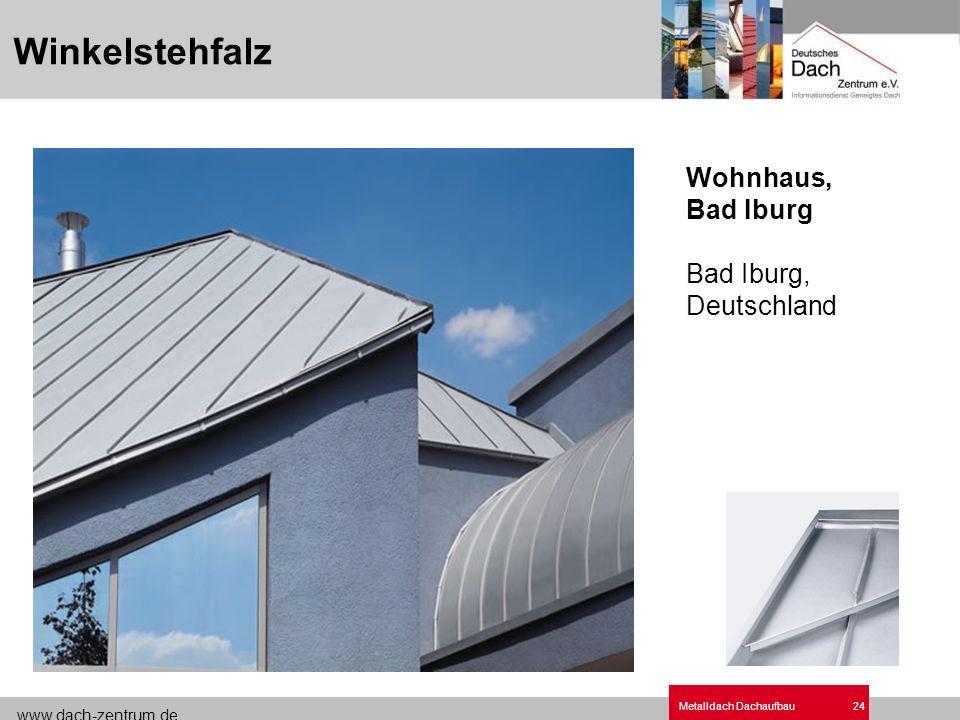 www.dach-zentrum.de Metalldach Dachaufbau24 Wohnhaus, Bad Iburg Bad Iburg, Deutschland Winkelstehfalz