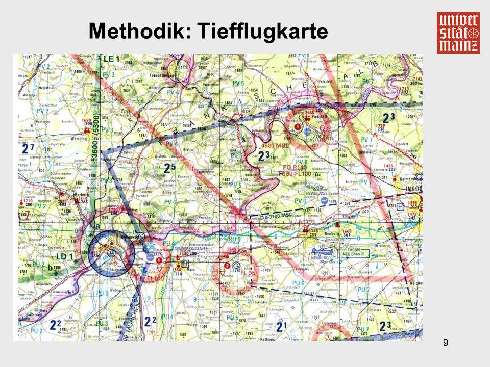 9 Methodik: Tiefflugkarte