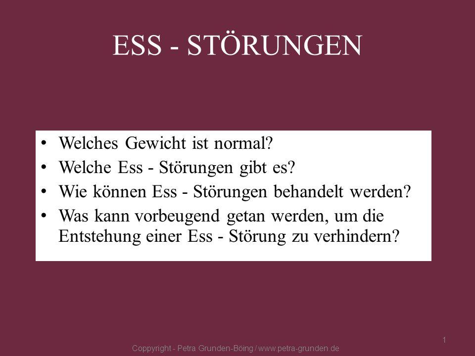 Körperschemastörungen: Coppyright - Petra Grunden-Böing / www.petra-grunden.de 12 Wahrnehmungsstörungen bzgl.