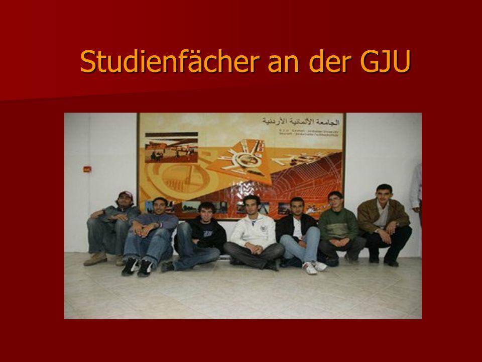 Studienfächer an der GJU