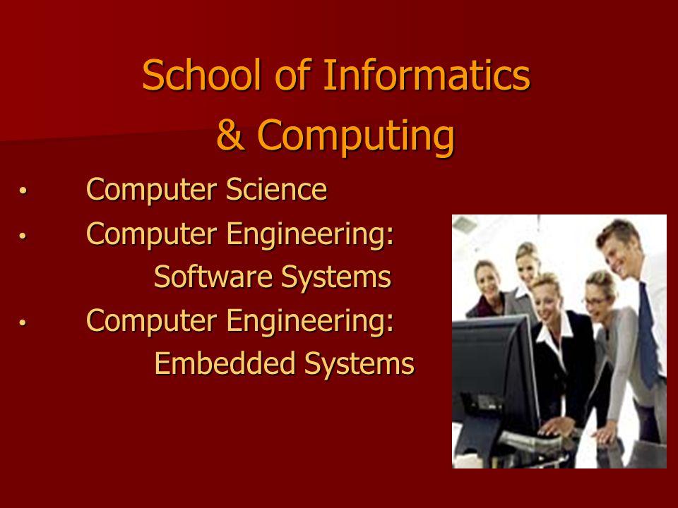 School of Informatics & Computing Computer Science Computer Science Computer Engineering: Computer Engineering: Software Systems Computer Engineering: