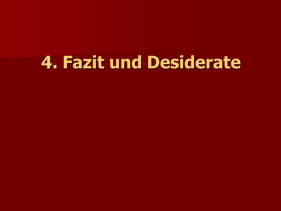 4. Fazit und Desiderate