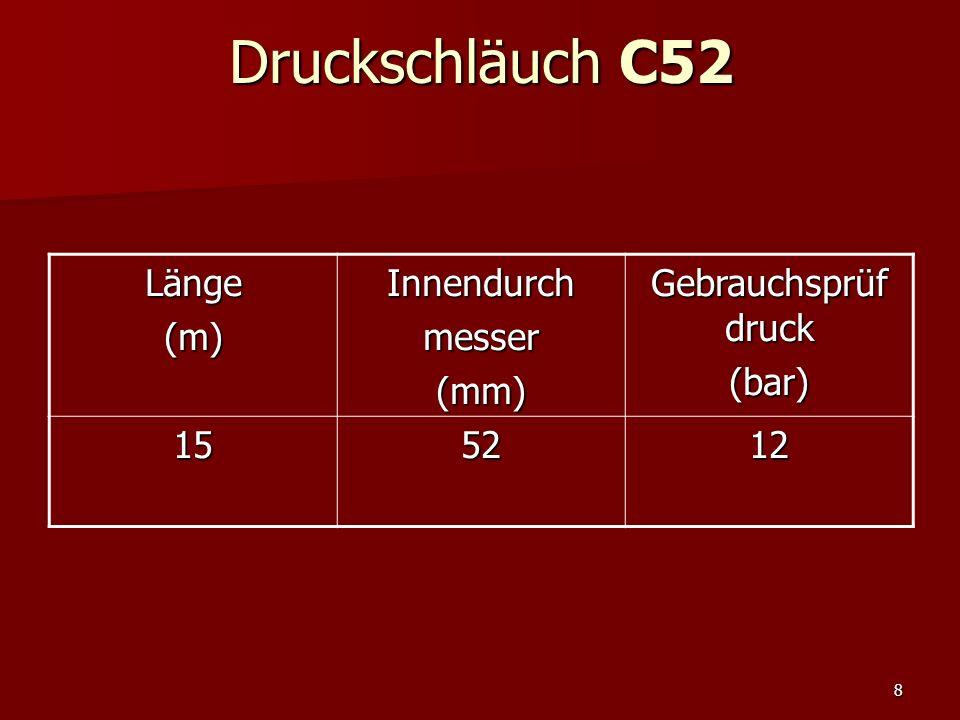 19Saugschläuche Genormte D-Kunststoffschlauch hat einen Innendurchmesser von 19 mm und ist 1,5 bzw.