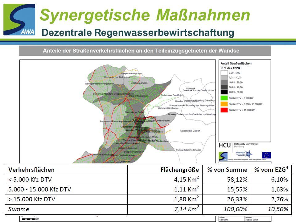 Synergetische Maßnahmen Dezentrale Regenwasserbewirtschaftung