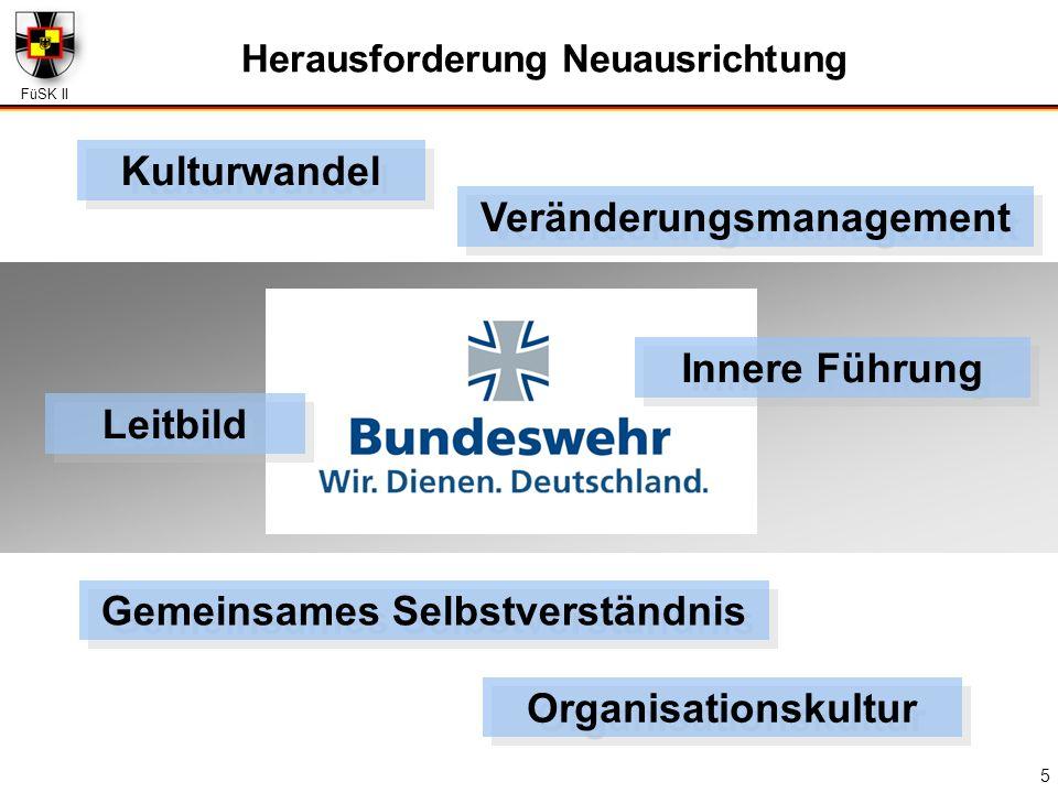 FüSK II 5 Herausforderung Neuausrichtung Gemeinsames Selbstverständnis Leitbild Innere Führung Kulturwandel Veränderungsmanagement Organisationskultur