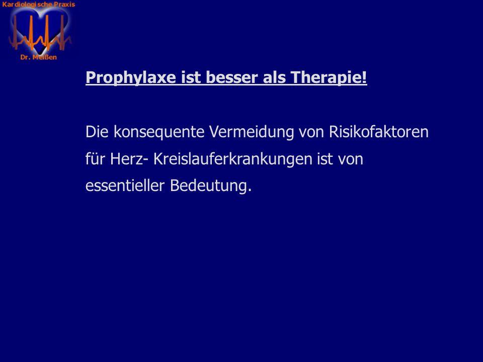 Prophylaxe ist besser als Therapie.