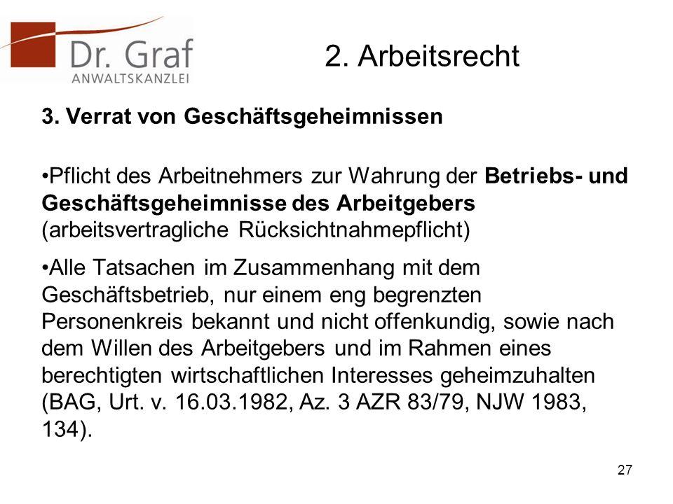 2.Arbeitsrecht 3.