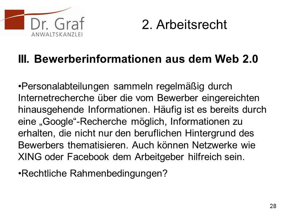 2.Arbeitsrecht III.