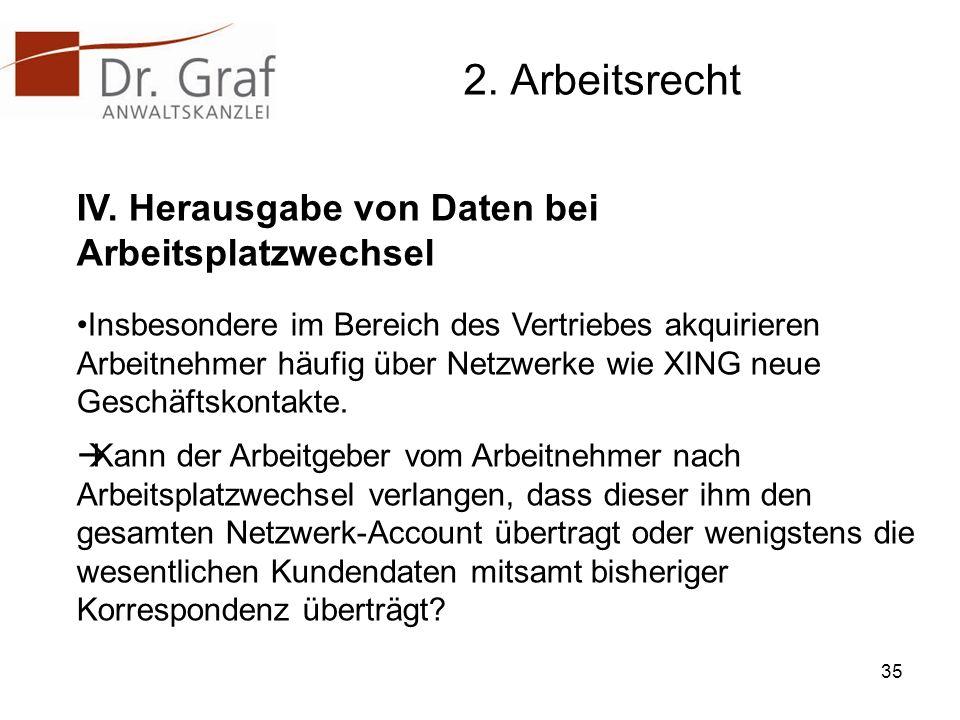 2.Arbeitsrecht IV.