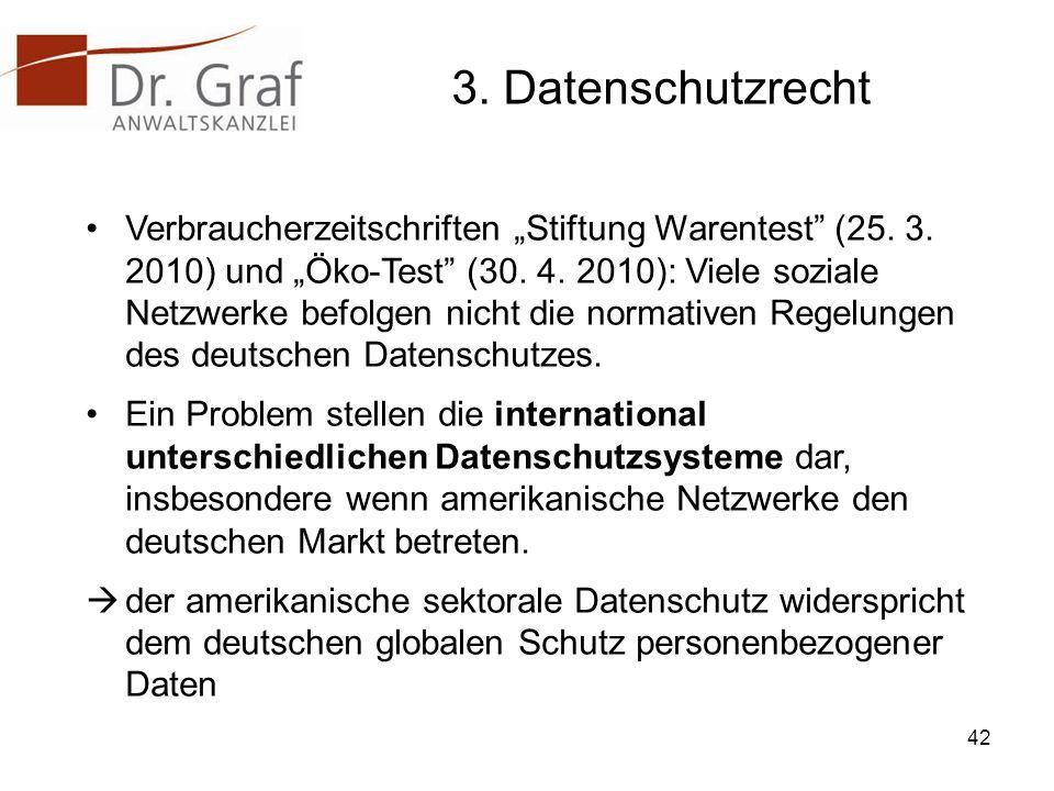 3.Datenschutzrecht Verbraucherzeitschriften Stiftung Warentest (25.