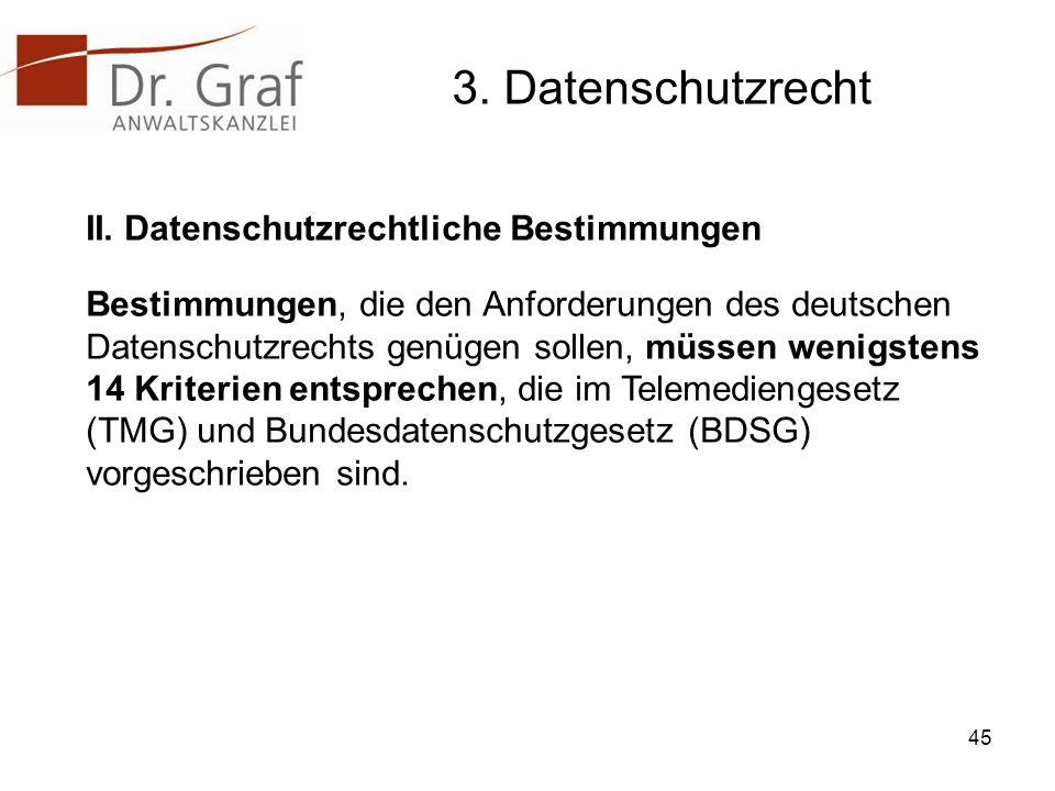 3.Datenschutzrecht II.