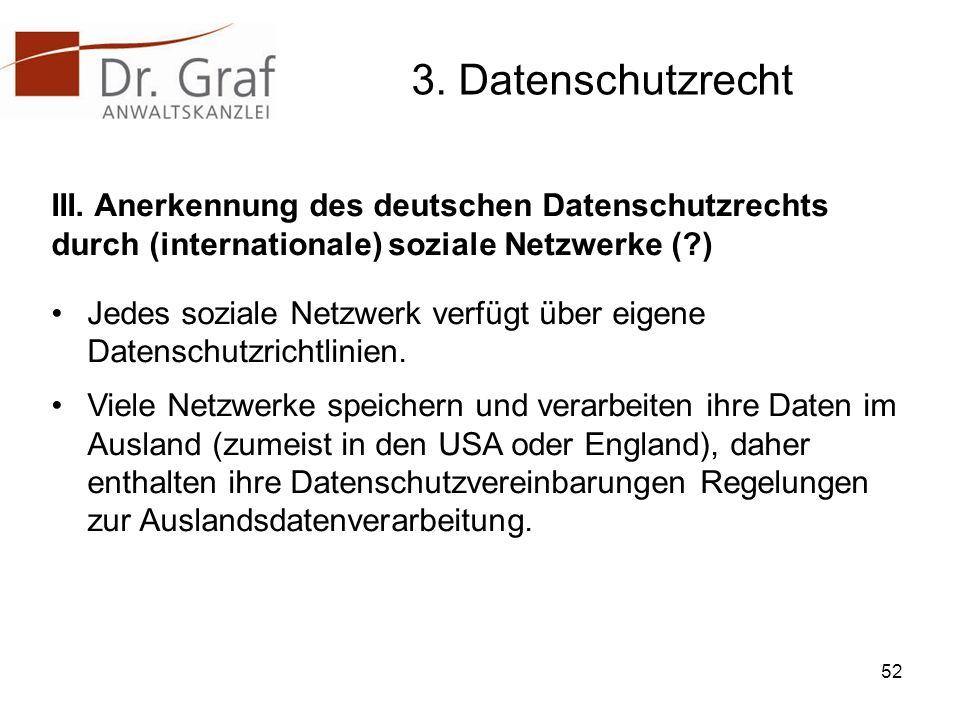 3.Datenschutzrecht III.
