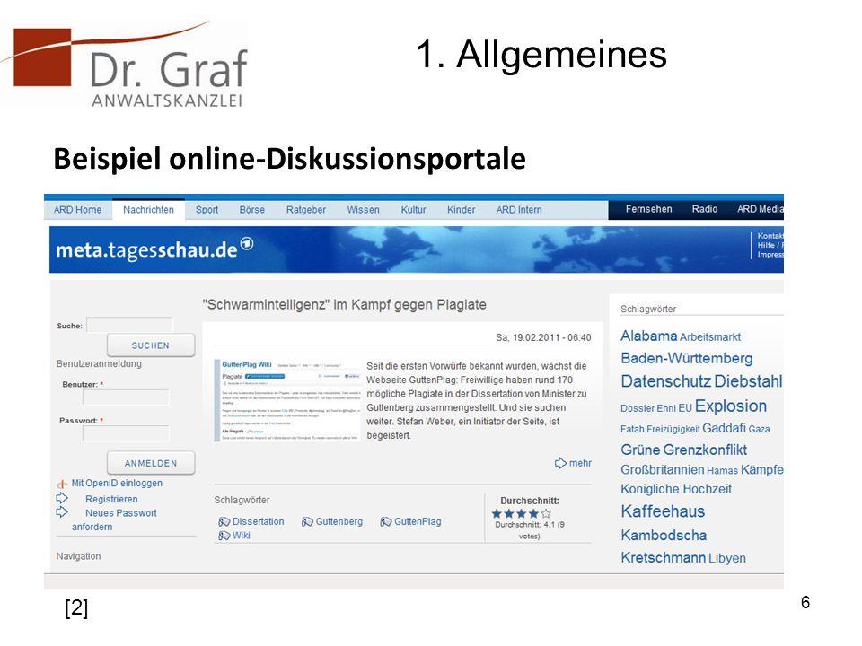1. Allgemeines Beispiel online-Diskussionsportale 6 [2]